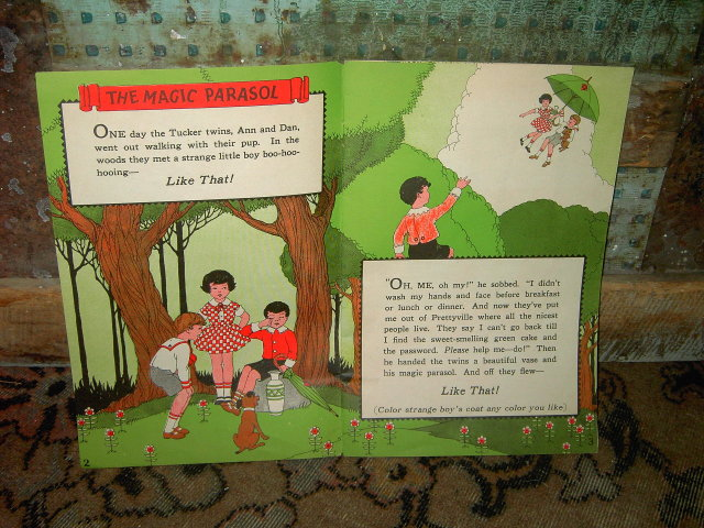 MAGIC PARASOL COLGATE PALMOLIVE PEET STORY BOOK ANIMATED BOOKLET
