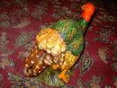 THANKSGIVING TURKEY CENTERPIECE TABLE DECORATION BIG TOM GAMEBIRD STATUE FIGURINE