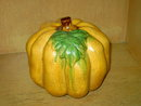 AUTUMN PUMPKIN FALL GOURD TABLE DECORATION THANKSGIVING FIGURINE IVORY COLOR