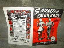 BATON BOOK DRUM MAJORETTE PARADE MAJOR TWIRL & SPINNING COURSE COLE CHICAGO ILLINOIS 1942