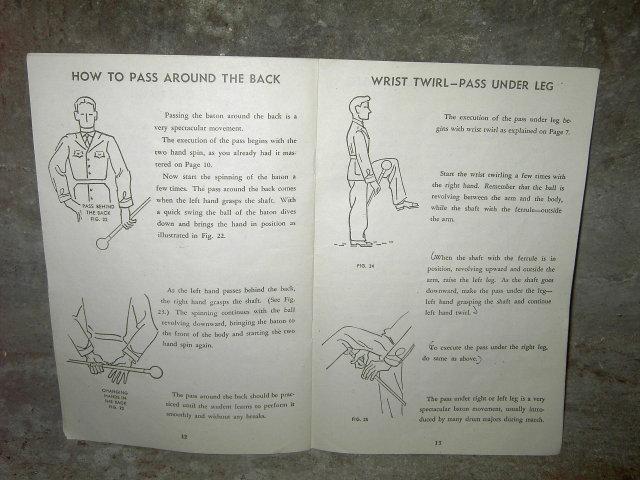 BATON BOOK DRUM MAJORETTE PARADE MAJOR TWIRL & SPINNING COURSE COLE CHICAGO ILLINOIS 1942