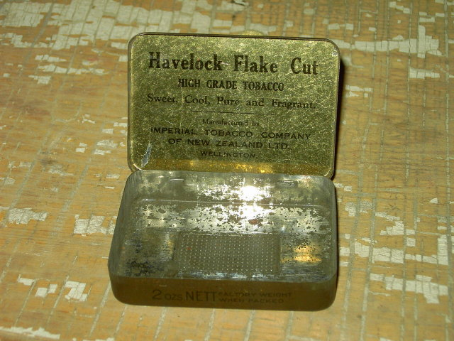 HAVELOCK DARK FLAKE CUT FRAGRANT TOBACCO TIN CAN WELLINGTON NEW ZEALAND IMPERIAL COMPANY