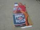 PURPLE PASSION EVERCLEAR GIRL BODY CUTOUT BEVERAGE ADVERTISING POSTER BANNER