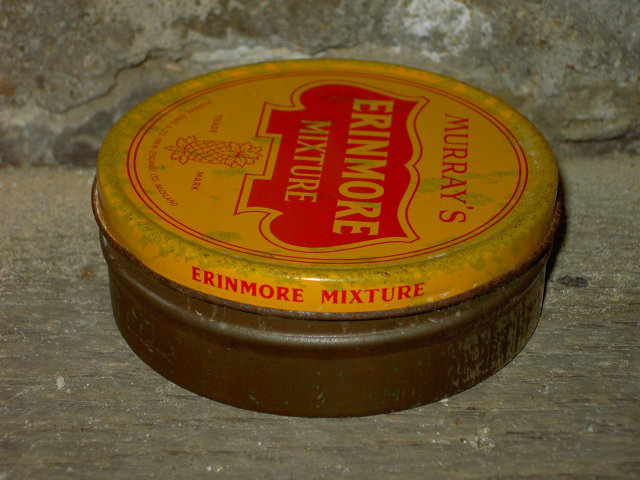 MURRAYS ERINMORE TOBACCO MIXTURE TIN CAN AUCKLAND NEW ZEALAND