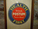 POSTUM HEALTH FIRST BREAKFAST BEVERAGE DRINK ADVERTISEMENT FRAMED WALL DECORATION