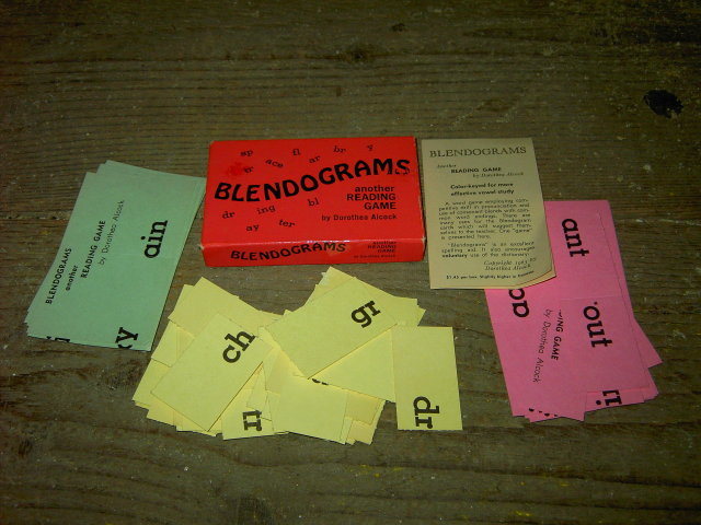 BLENDOGRAM READING WORD GAME DOROTHEA ALCOCK 1963