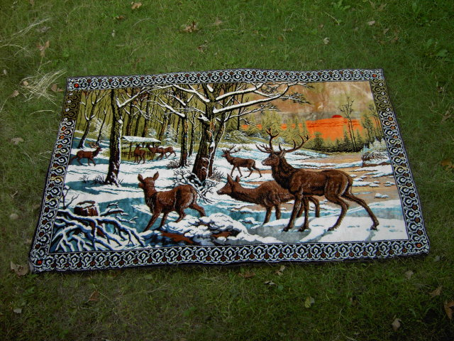 MOUNTAIN ELK WALL DECORATION BED THROW COVER TAPESTY
