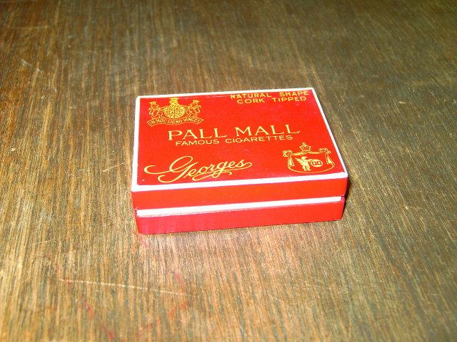 CIGARETTE BOX PALL MALL GEORGES NORTH CAROLINA CORK TIPPED