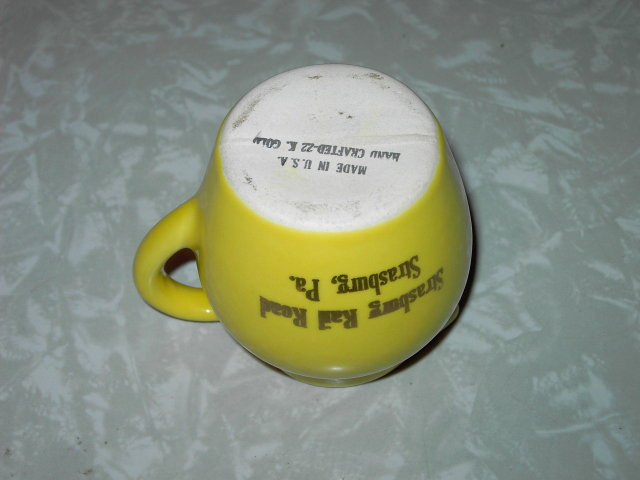 STRASBURG PENNSYLVANIA RAIL ROAD CREAMER PITCHER TOURIST SOUVENIR