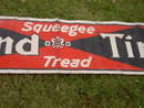 DIAMOND TIRES SIGN SQUEEGEE TREAD COTTON LINEN BANNER AUTOMOBILE GARAGE ADVERTISING