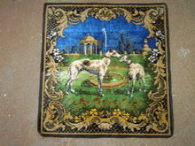 GREYHOUND DOG DRESSER SCARF WALL LINEN DECORATIVE TAPESTRY