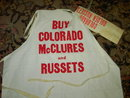 COLORADO POTATO APRON HAT CAP MCCLURE GOLDEN RUSSET BRAND