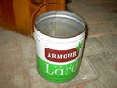 ARMOUR LARD BUCKET KITCHEN PAIL CHICAGO ILLINOIS ADVERTISING TIN CAN