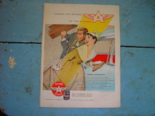 FLYING A ETHYL VEEDOL MOTOR OIL ADVERTISEMENT HAPPY HONEYMOON J FREDERICK SMITH TIDEWATER OIL COMPANY AD