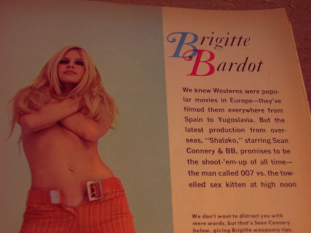 BRIGITTE BARDOT SAGA MAGAZINE PICTORIAL PHOTOS