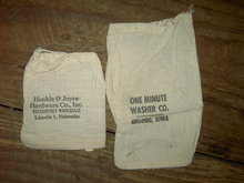 KELLOGG IOWA LINCOLN NEBRASKA COTTON SACK HARDWARE BAG HENKLE JOYCE ONE MINUTE WASHER COMPANY