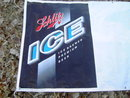 SCHLITZ ICE BEER SIGN PLASTIC BANNER WALL ADVERTISING 1994 ST PAUL MINNESOTA