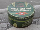 GRANT ONE TRIANGULAR POLISH MOP TIN CAN HOUSEHOLD CANNISTER