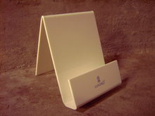 LLADRO BROCHURE DISPLAY RACK WHITE PLEXIGLASS STAND