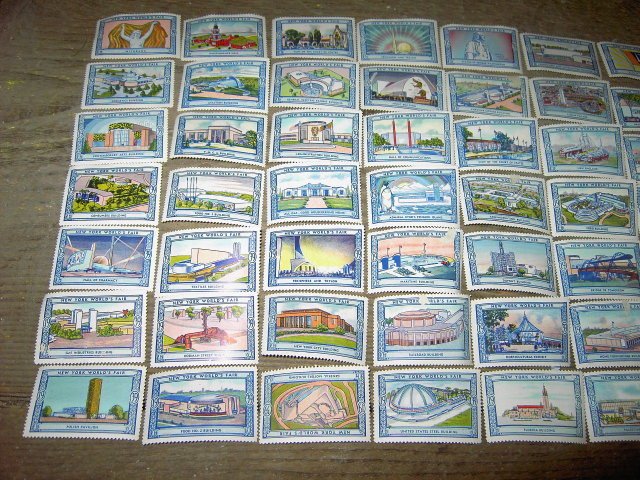 NEW YORK CITY WORLDS FAIR STAMP SET