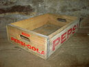 MARION COUNTY IOWA CRATE PEPSI COLA BOTTLE TOTE WOODEN BOX