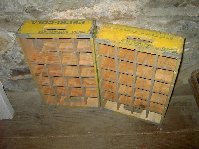 HASTINGS NEBRASKA CRATE PEPSI COLA SOFT DRINK BOTTLE TOTE WOOD BOX