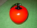 RED GREEN GLASS APPLE TABLE DECORATION