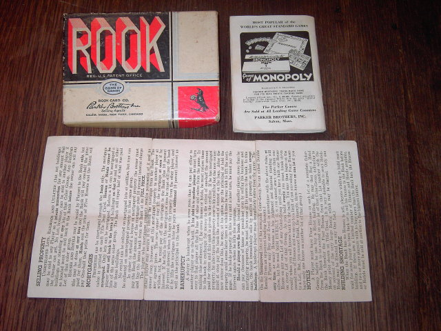 ROOK PARKER BROTHERS CARD GAME BOX INSTRUCTION FLYER MONOPOLY RULE PAMPHLET