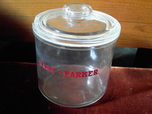 BARD PARKER GLASS JAR SURGICAL SCALPEL ADVERTISING CANNISTER