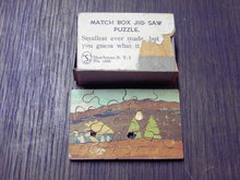 MATCH BOX SMALLEST JIG SAW PUZZLE SHACKMAN NEW YORK
