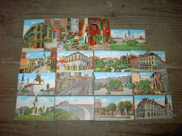 NEW ORLEANS LOUISIANA HISTORICAL LANDMARK STREET SCENE TRADING CARDS