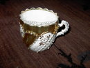GERMAN MUSTACHE CUP VICTORIAN SHAVING MUG MADE IN GERMANY JPF