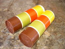 TUPPERWARE SPICE SHAKER STACKING CANNISTER COLORFUL RETRO KITCHEN TUBS