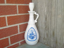 DUTCH WINDMILL BLUE SAILBOAT PORT WINE DECANTER GRAY GLASS BOTTLE