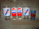 PEPSI COLA GLASS SOFT DRINK ADVERTISING TUMBLER