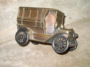 BANTHRICO FORD AUTOMOBILE 1915 CAR TOY BANK HASTINGS NEBRASKA CITY NATIONAL ADVERTISING