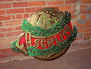 SCHLITZ BEER CHRISTMAS HOLLY WREATH SIGN WALL POSTER BEVERAGE ADVERTISING