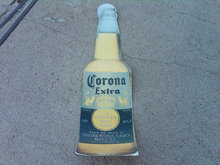 CORONA EXTRA CERVEZA BEER CARDBOARD SIGN BREW ADVERTISING