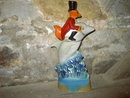 SOUTH FLORIDA FOX DOLPHIN DECANTER JIM BEAM WHISKEY REGAL CHINA FIGURAL BOTTLE