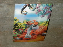 JUNGLE BOOK TIGER 1966 THREE DIMENSIONAL PICTURE WALT DISNEY SNAKE FLOWER CARD