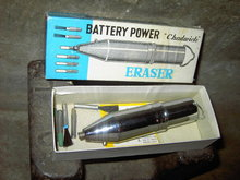 CHADWICK BATTERY POWER ERASER SECRETARY UTENSIL BOOKWORK TOOL