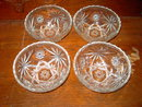 CEREAL BOWL EAPC EARLY AMERICAN PRESCUT ANCHOR HOCKING CLEAR GLASS DISH