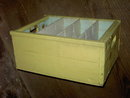 VESS BILLION BUBBLE BEVERAGE BOTTLE TOTE CRATE KANSAS CITY WOODEN BOX SHELF