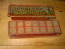 PEERLESS DOMINOES VICTORIAN ERA WOOD DOMINO TILE GAME PASTIME ROCHESTER LITHO COMPANY BOX