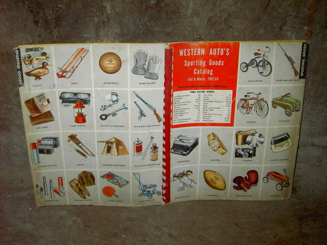 WESTERN AUTO SPORTING GOODS CATALOG 1952 1953 FALL WINTER SEASON OUTDOOR EQUIPMENT BOOK MAIL ORDER PUBLICATION