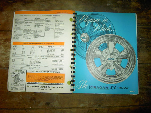WESTERN AUTO STORE CATALOG 1966 AUTOMOTIVE APPLICATION CHART BOOK CAR SERVICE GARAGE GUIDE BOOK