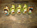FLINTSTONE KIDS CARTOON GLASS TUMBLER HANNA BARBERA 1986 PIZZA HUT