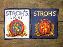 STROHS BEER PATCH LIGHT BREW BEVERAGE UNIFORM EMBLEM