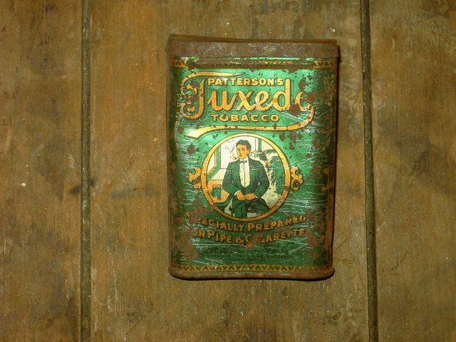 PATTERSONS TUXEDO TOBACCO CAN TIN CANNISTER