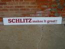 SCHLITZ MAKES IT GREAT BEER SIGN PLEXIGLASS BEVERAGE ADVERTISING
